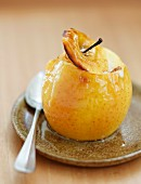 Baked apple with low-fat butter