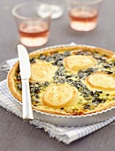 Goat's cheese and spinach quiche