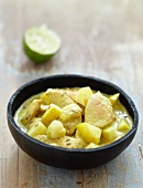 Chicken,apple and banana curry