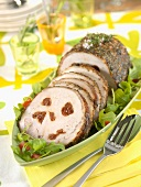 Roast pork stuffed with confit tomatoes