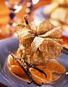 Crêpetäschchen mit Maronen-Vanille-Creme