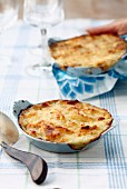 Chicken and coconut Parmentier