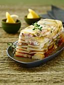 Potato and mackerel terrine
