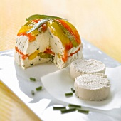 Goat's cheese and bell pepper terrine