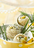 Rolled sole fillets with Mâconnais and chives