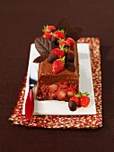 Chocolate and strawberry Marquise
