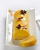 Spicy orange log cake