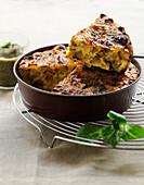 Potato and onion savoury cake