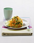 Mixed grated vegetables
