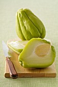 Chayote squashes