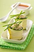 Zucchini and feta rolls