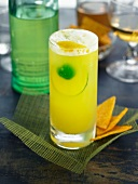 Pineapple, lime, lemon and green apple cordial cocktail