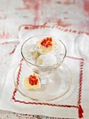 White chocolate and raspberry truffles