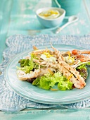 Dublin Bay prawn salad with aïoli and oranges