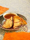 Potato and pea samossas