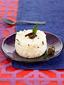 Basmati rice with yoghurt, mustard seeds and chili peppers