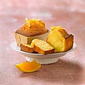 Individual orange sponge cakes
