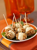 Cheese and walnut appetizers