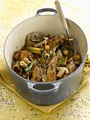 Rabbit and wild mushroom casserole