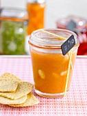 Jar of melon jam