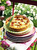 Tomaten-Clafoutis mit Mozzarella