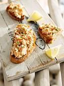 Potted sardines on toast