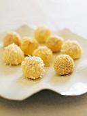 White chocolate truffles