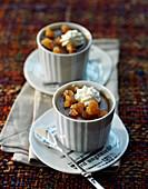Chestnut baked egg custard desserts