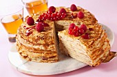 Pancake and summer fruit cake