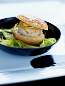 Mini scallop burger