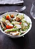 Chicken and black radish salad
