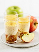 Creamy caramel and apple dessert