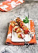 Marinated chicken brochettes