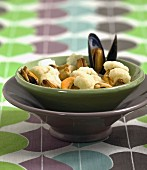 Mussels with cauliflower