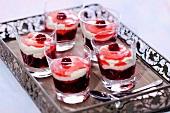 Cherry and cream dessert