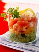 Avocado, grapefruit and shrimp salad