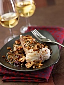 Monkfish Meunière with ceps and walnuts