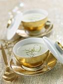 Cream of coconut and citronella soup