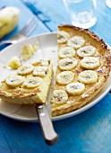 Coconut and banana tart