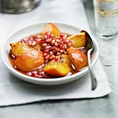 Peach and pomegranate Tajine