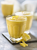 Lemon and crystallized ginger mousse