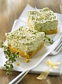 Zucchini and parmesan cheesecake