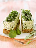 Boursin and spinach cheesecake