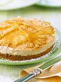 Pineapple,Rum and coconut cheesecake