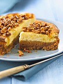 Pecan and maple syrup cheesecake