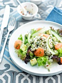 Crab,avocado and grapefruit salad