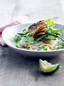 Oriental-style duck marinated with citrus fruit