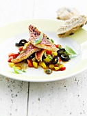 Southern red mullet salad