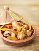 Rabbit, vegetable and almond Tajine