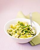 Nudel mit Erbsen und Pistazien-Pesto